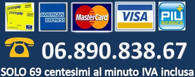 linea erotica a bassissimo costo con carta di credito